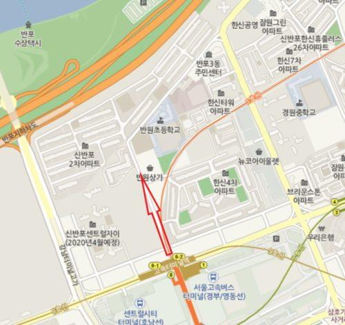 高速ターミナル駅付近サイクリング