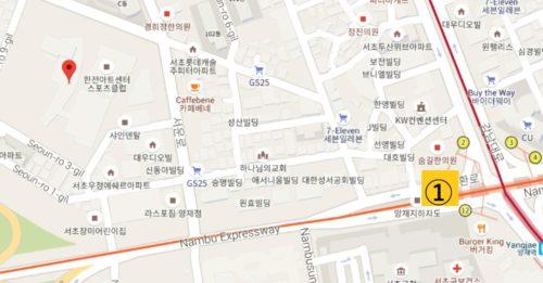韓電アートセンター地図